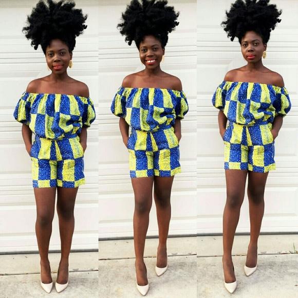 cb40b4b992 Veroex Dresses   Women African Print 2 Pcs Set Of Crop Top And Pant ...